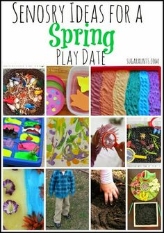 Great ideas for Spring themed sensory play. These would be great ideas for a play date or just to do at home.