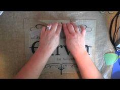 Hinge Method of applying a vinyl decal - YouTube