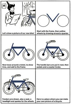 How to Draw a Bicycle Kids Drawing Lesson.