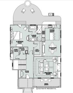 Small house floor plan, main floor this is good for someone without kids. With the upstairs this becomes a four bedroom home with 2300 sq. ft. of space. cottag, house floor plans, hous floor, tini hous, floorplan, bedrooms, main floor, small houses, house plans
