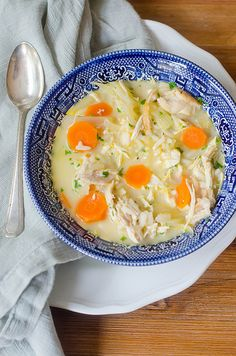 Lemony Chicken & Rice Soup - Pink Parsley