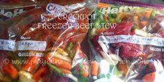 Crockpot Freezer Meals   Beef Stew Slow Cooker Recipe   Home Organization
