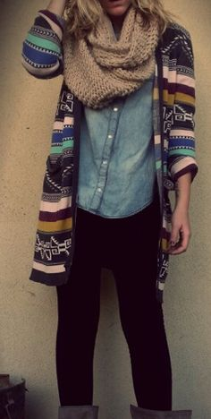 Fall outfit! Love the sweater