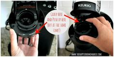 How to clean the Keurig. (Don't forget to stick the paperclip up by the upper needle!) My Keurig went from making a half a cup back to a full cup again! Apparently you need to do this every 3-4 months (not every 2 year!) ~MSC