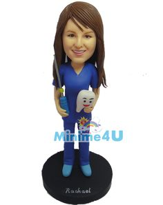 female dentist figurine, this template is ideally for dentist professionals.
