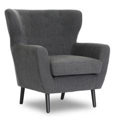Find it at the Foundary - Moretti Club Chair - Dark Grey