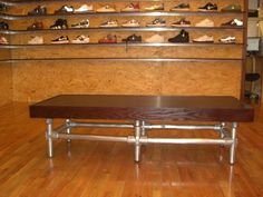 Bench made with Kee Lite aluminum fittings.