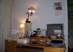 Not exactly stationery but this is a photo of my desk area taken a couple of years ago.  Pretty much the same now except for a new PC :)