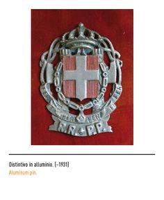 Marchio Poste Italiane - Distintivo in alluminio ~1931