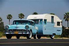 vintage trailers, old campers, vintage cars, road trips, vintage travel trailers, vintag trailer, baby blues, the road, vintage campers
