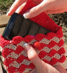 Crocheted Mobile Pouch / IPhone sized Case by SIMPLEandSTYLISH, $20.00