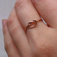 Rose gold knotted ring.