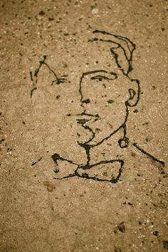 Tar Sidewalk Portraiture: Greenpoint, Brooklyn