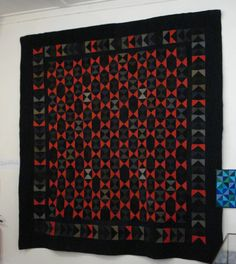 Bow Tie Quilt. Mid 19th Century, Mid-Wales.
