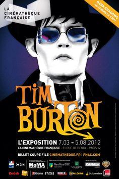 Dark Shadows poster promoting the French Tim Burton Expo