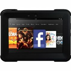 OtterBox Defender Series Protective Case for Kindle Fire HD 7, Black (with built-in screen protection)