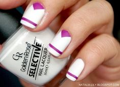 Pink White Nails with pink stripe. #nailart #nails #mani #polish - For more nail looks or to share yours, go to bellashoot.com