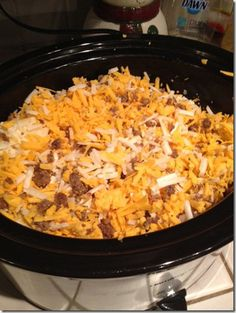 Crock Pot Breakfast (cooks while you sleep) - I LOVE this! Me and my crock pot, we get along :)
