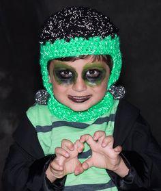 Frankenstein Hat Free Crochet Pattern from Red Heart Yarns