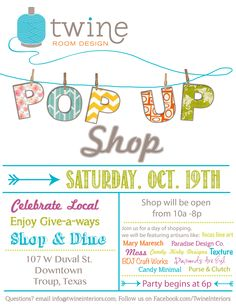 Pop up shop, eclectic home decor and shopping, www.twineinteriors.com