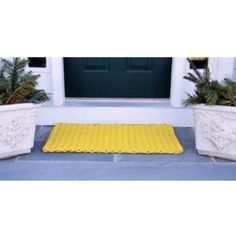 Cape Cod Doormat by CAPE COD DOORMATS. $164.95. Quick-drying and stain-resistant. Traps dirt, sand, and snow. Choice of sizes. Reversible. Yellow, 100% polypropylene. Cape Cod Doormat. Cape Cod Doormats are tough wearing and long-lasting. Top quality polypropylene cordage has thousands of fibers that remove dirt from the soles of boots and shoes and will withstand years of heavy traffic. Reversible, colorfast, mildew- and insect-resistant. Hose clean and quick drying. Availab...