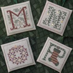 Alphabets Ornaments Four (M, N, O & P). Gráfico de The Drawn Threads en www.lacasinaroja.com