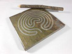 LABYRINTH STONE  Single Path Meditational by BlythHouseCreations, $11.00