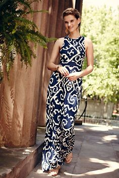Scrollwork Maxi Dress #anthropologie