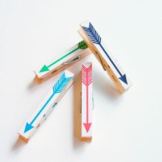 #DIY - arrows painted on #clothespins
