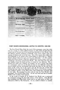 Down Historic Trails of Fort Worth and Tarrant County, Page: 45 | The Portal to Texas History