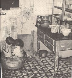 ...bath time in 1930