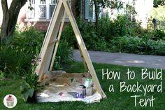 How to Build a Backyard Tent | Instructions on HoosierHomemade.com