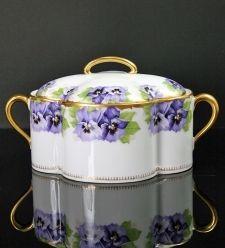 Kristall & Dahlia online shop | antique porcelain & crockery | antiques & art | Rosenthal/Antique porcelain box** | antiques & porcelain & crockery