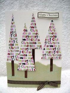 Christmas tree card christmas cards, christma card, christmas card crafts, easi tree, christma tree, tree card, christmas trees