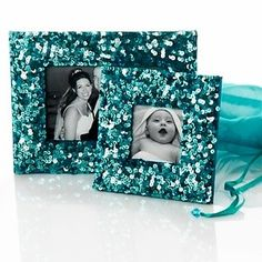 Sequin picture frames
