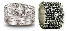 Big collection of weird, funny, even disturbing inscriptions on rings