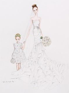 Gorgeous bride Heidi with her daughter and flower girl Mia alexandra nea, fashion draw, flower girls