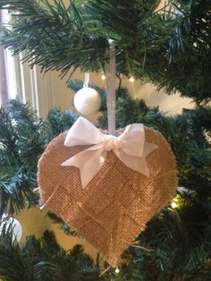 Another Burlap Ornament made by my Mum!