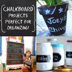 DIY Chalkboard Projects for Organizing