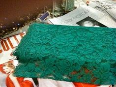 Green lace bought today!