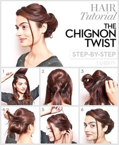 The Chignon Twist. #Hair #HairStyles #Tutorial #Tutorials