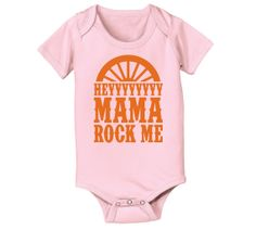 Hey Mama Rock Me Novelty Music Wagon Wheel Country Baby One Piece E4105