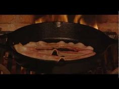 Bacon Yule Log - A Virtual Fireplace for Your Holiday