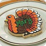 Turkey place cards are cute for a pre-Thanksgiving feast!