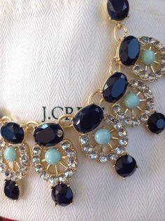 statement necklaces, jewelry necklaces, accessori, j crew, carolina blue, bibs, jcrew, blues, black friday