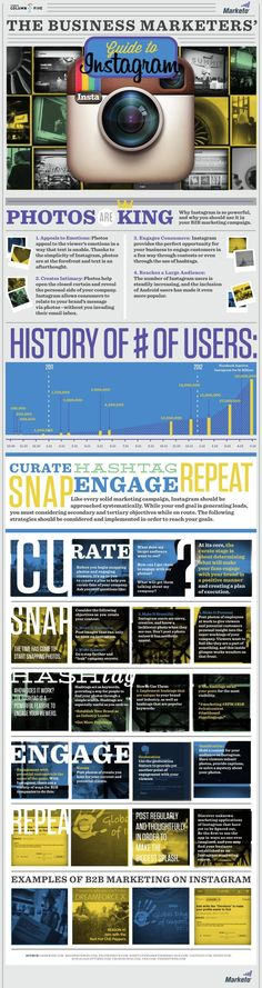 The business marketer's guide to Instagram #infographic