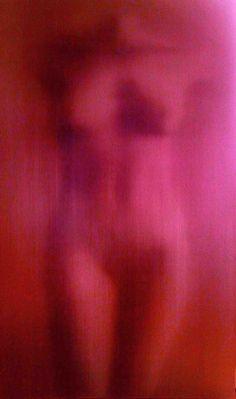 Pink Nude, oil on canvas, Alison Van Pelt