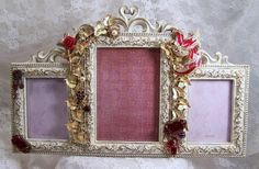 Victorian Picture Frame Embellished Frame by theresamariejewelry, $55.00