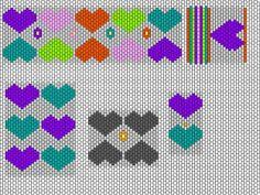 Beaded Cuff PATTERN  Hearts & Flowers Free Beading Pattern