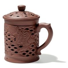Dragon Covered Yixing Mug